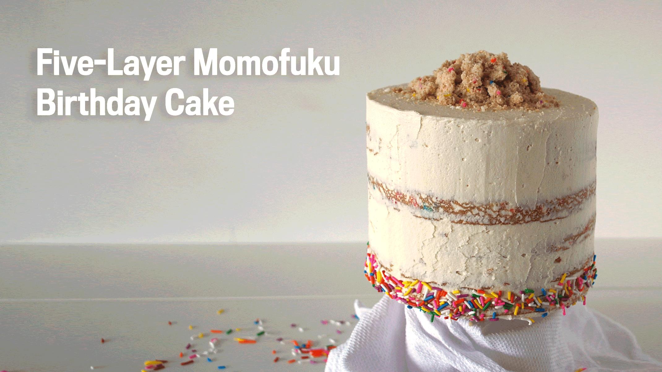 Brilliant Five Layer Momofuku Birthday Cake Funny Birthday Cards Online Fluifree Goldxyz