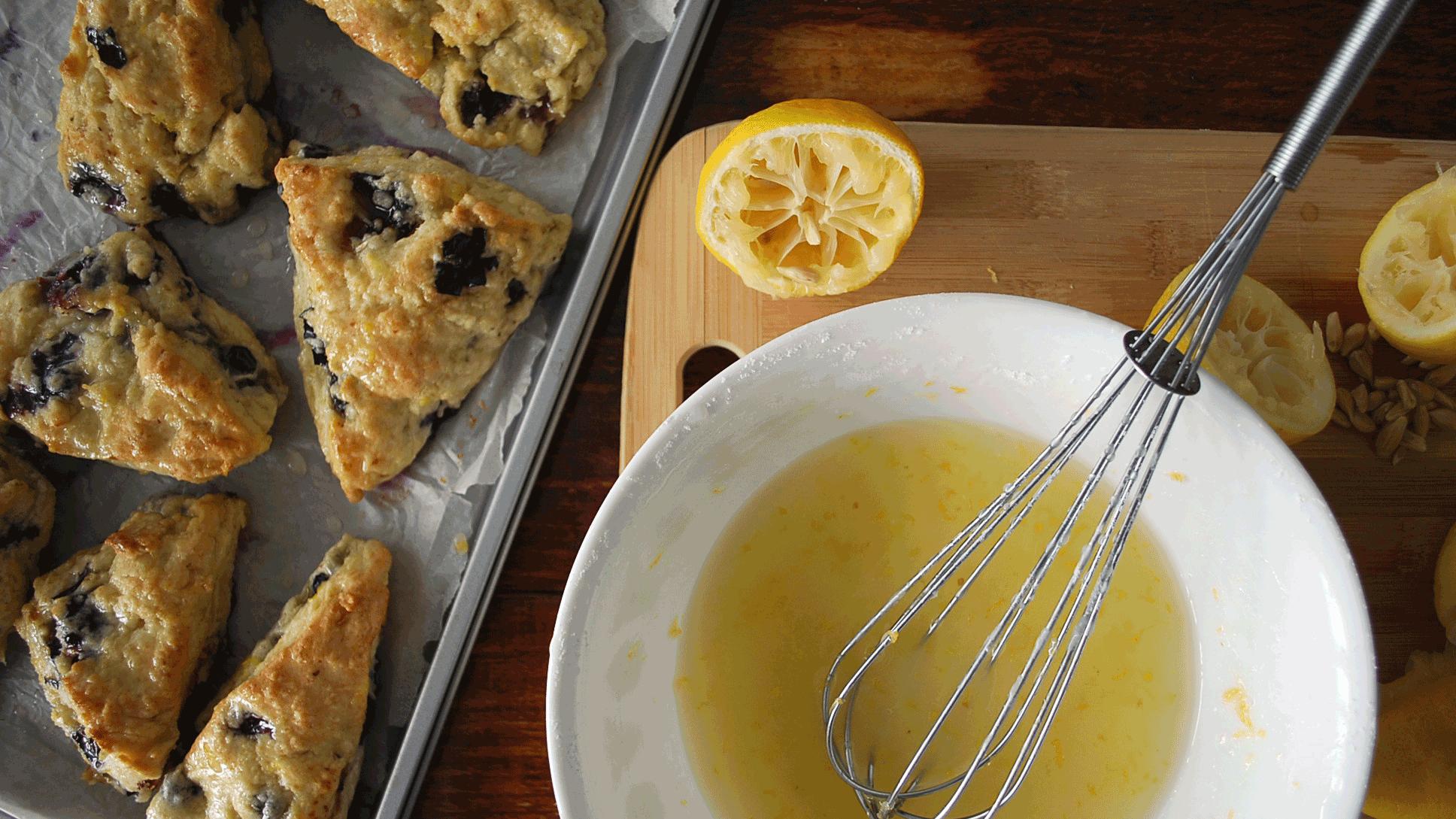 kitchen-whiskers-blueberry-scones-lemon-glaze